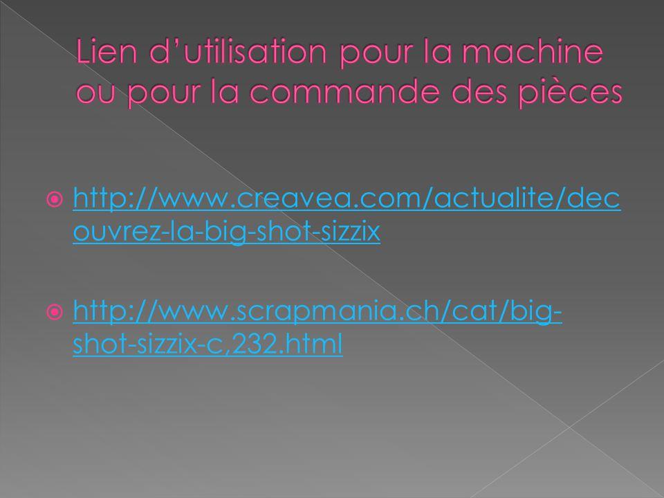 http://www.creavea.com/actualite/dec ouvrez-la-big-shot-sizzix http://www.creavea.com/actualite/dec ouvrez-la-big-shot-sizzix http://www.scrapmania.ch/cat/big- shot-sizzix-c,232.html http://www.scrapmania.ch/cat/big- shot-sizzix-c,232.html