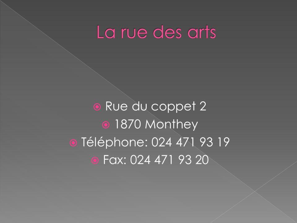 Rue du coppet 2 1870 Monthey Téléphone: 024 471 93 19 Fax: 024 471 93 20