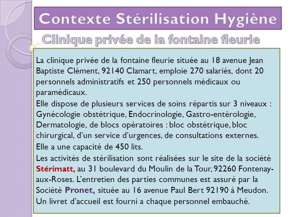 La clinique privée de la fontaine fleurie située au 18 avenue Jean Baptiste Clément, 92140 Clamart, emploie 270 salariés, dont 20 personnels administr