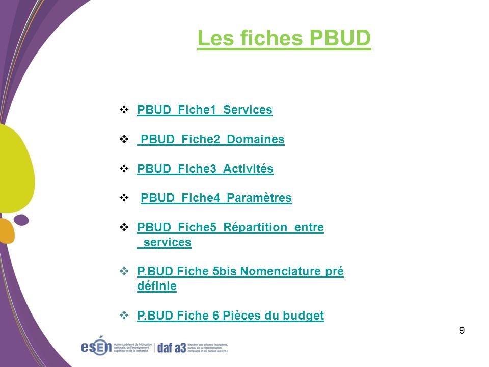Module CBUD 10 Rappel : tous les budgets sont transférés de PBUD.