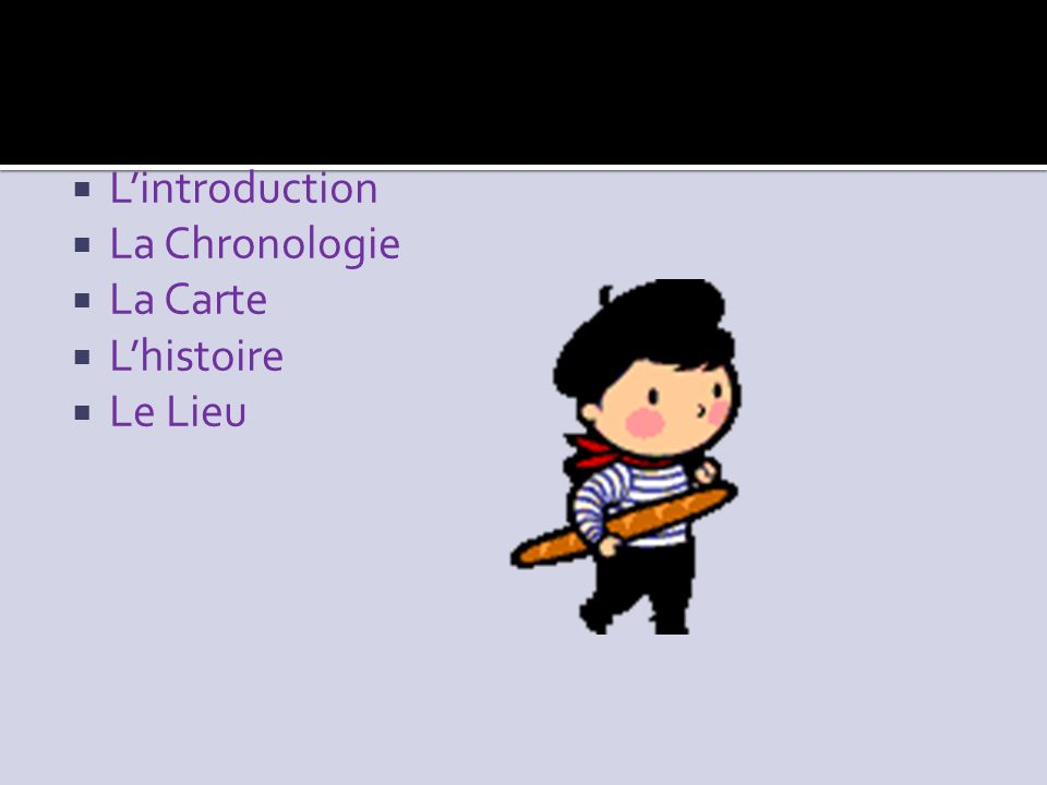 Lintroduction La Chronologie La Carte Lhistoire Le Lieu