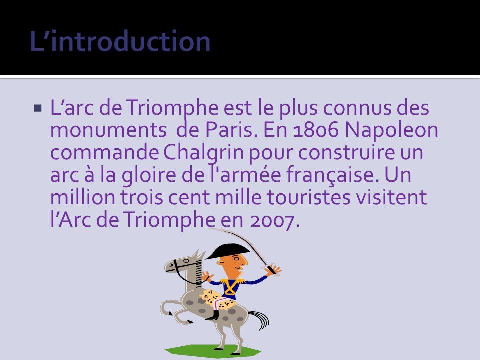 Larc de Triomphe est le plus connus des monuments de Paris.