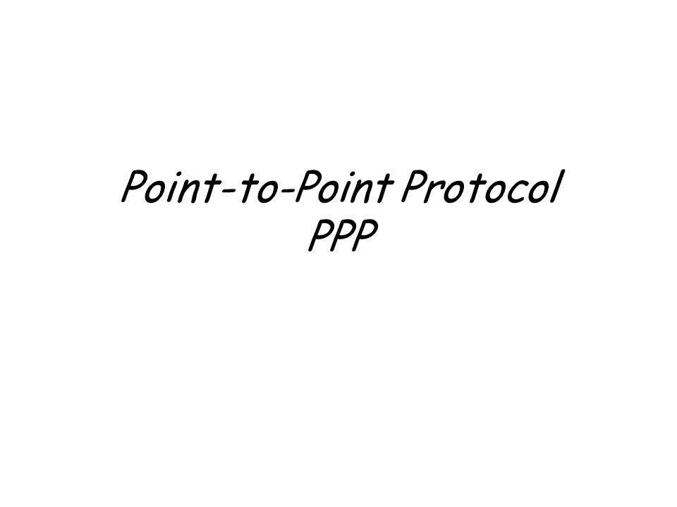 Point-to-Point Protocol PPP