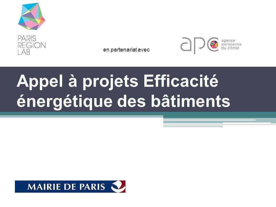 Appel à projets Efficacité énergétique des bâtiments en partenariat avec