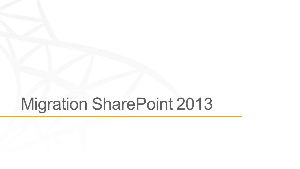 On Prem Hybride Office 365 Choix de la topologie Création de la Web Application et paramétrage Mise en place des services Sharepoint Déploiement de la customisation Vérification Test-SPContentDatabase Installation de la ferme