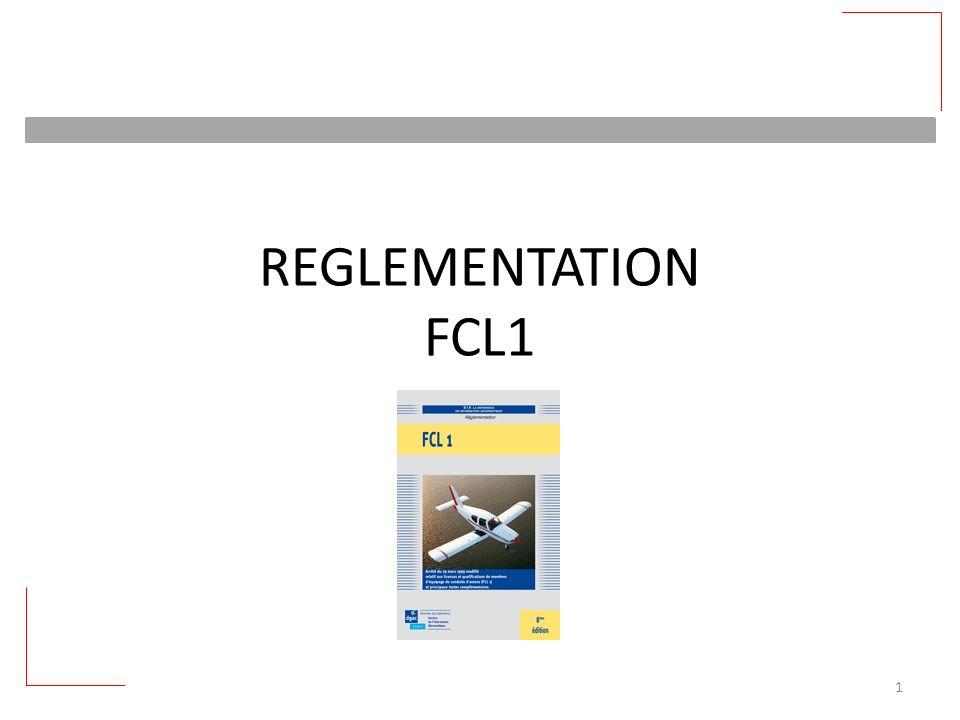 REGLEMENTATION FCL1 1