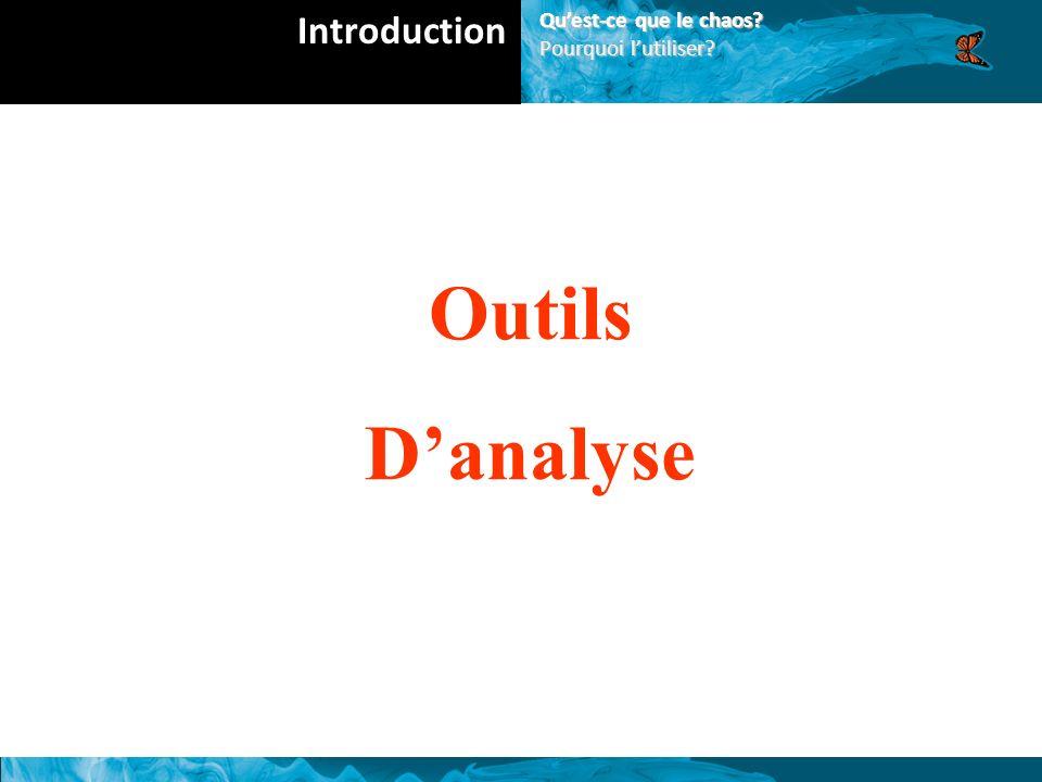 Outils Danalyse Introduction Quest-ce que le chaos? Pourquoi lutiliser?