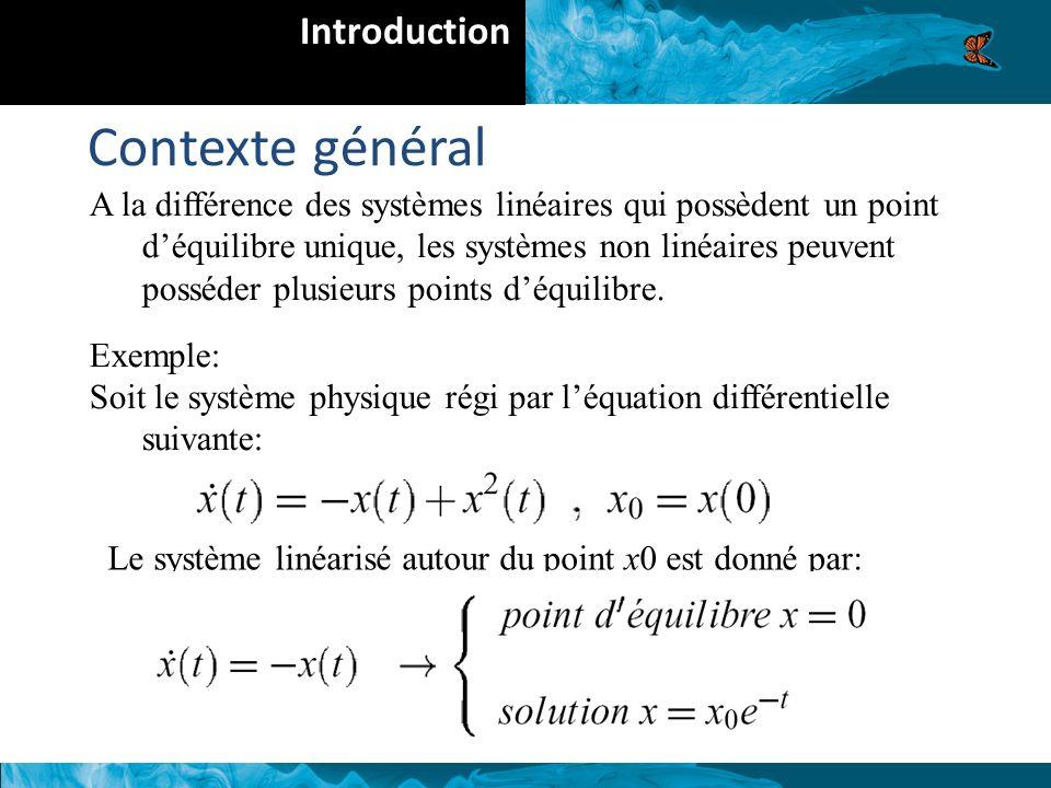 A la différence des systèmes linéaires qui possèdent un point déquilibre unique, les systèmes non linéaires peuvent posséder plusieurs points déquilibre.