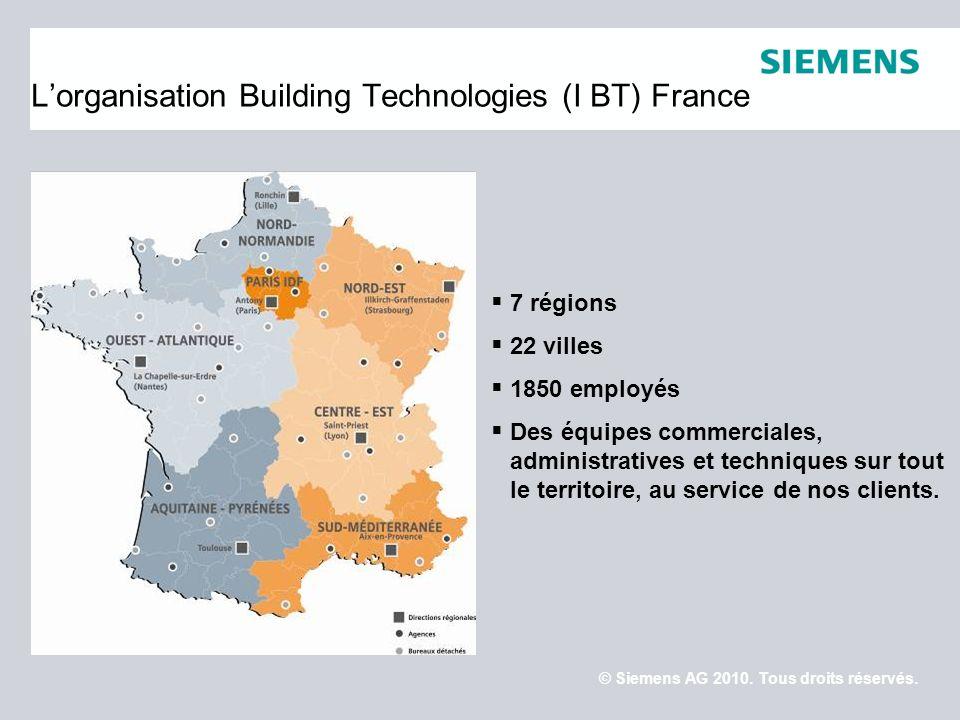 © Siemens AG 2010.Tous droits réservés.