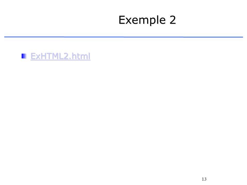 13 Exemple 2 ExHTML2.html