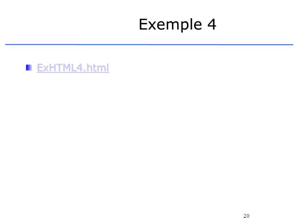 20 Exemple 4 ExHTML4.html