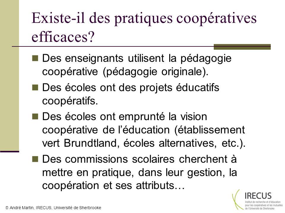 André Martin, IRECUS, Université de Sherbrooke Existe-il des pratiques coopératives efficaces? Des enseignants utilisent la pédagogie coopérative (péd