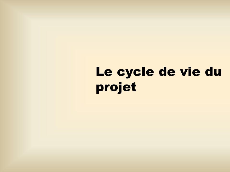 Le déroulement dun projet 1.Les intervenants 1.1.