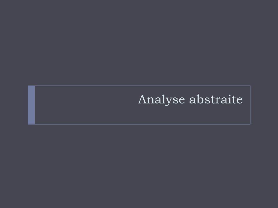 Analyse abstraite