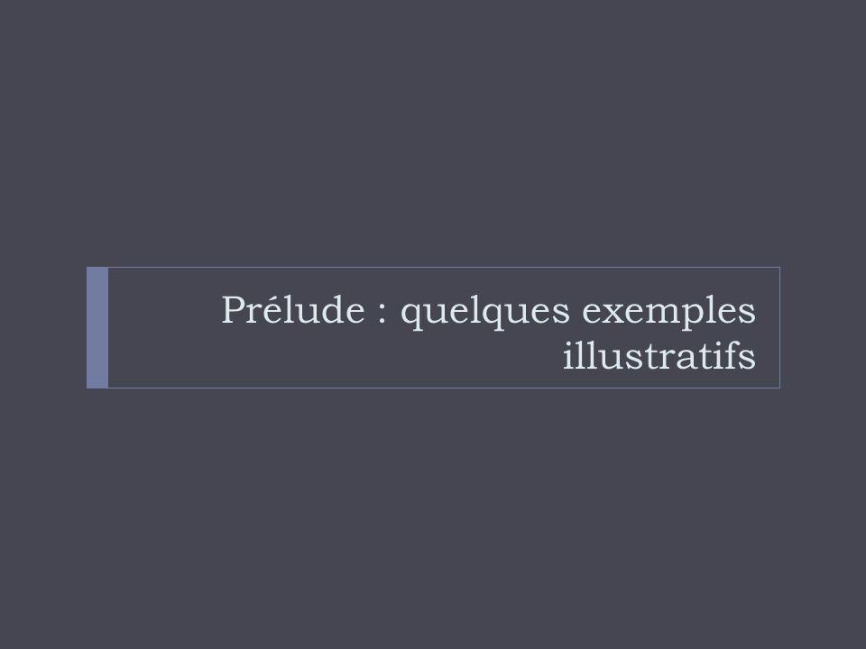 Prélude : quelques exemples illustratifs