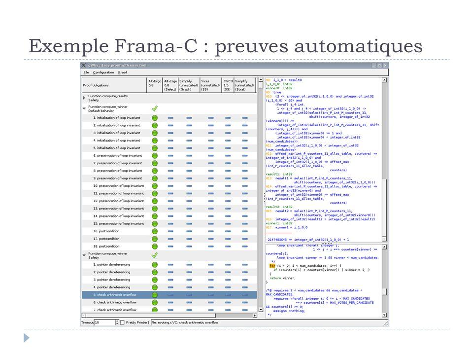 Exemple Frama-C : preuves automatiques