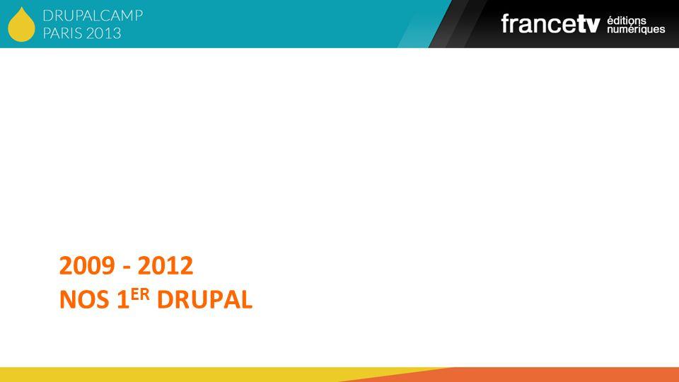 2009 - 2012 NOS 1 ER DRUPAL