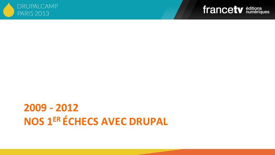2009 - 2012 NOS 1 ER ÉCHECS AVEC DRUPAL