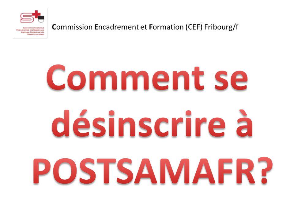 Envoyez un SMS avec le texte suivant : STOP POSTSAMAFR au numéro 8400