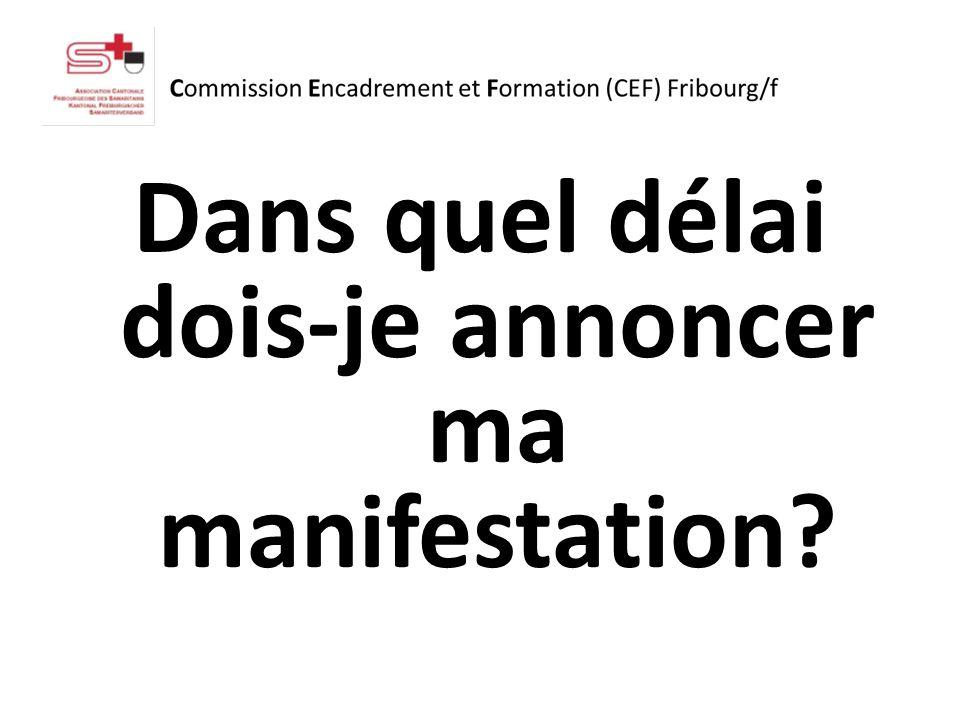 Le délai peut être annoncé à la CEF au plus tôt deux mois avant.