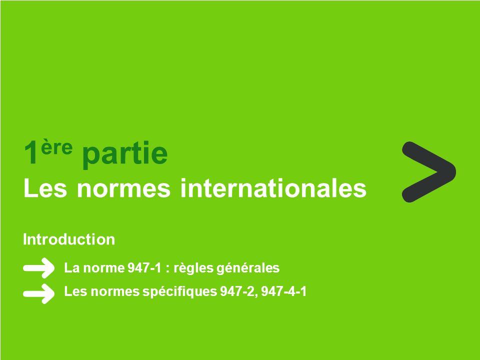 Schneider Electric 2 - Nicolas Hertzog - juin 2013 Introduction La norme 947-1 : règles générales Les normes spécifiques 947-2, 947-4-1 1 ère partie Les normes internationales