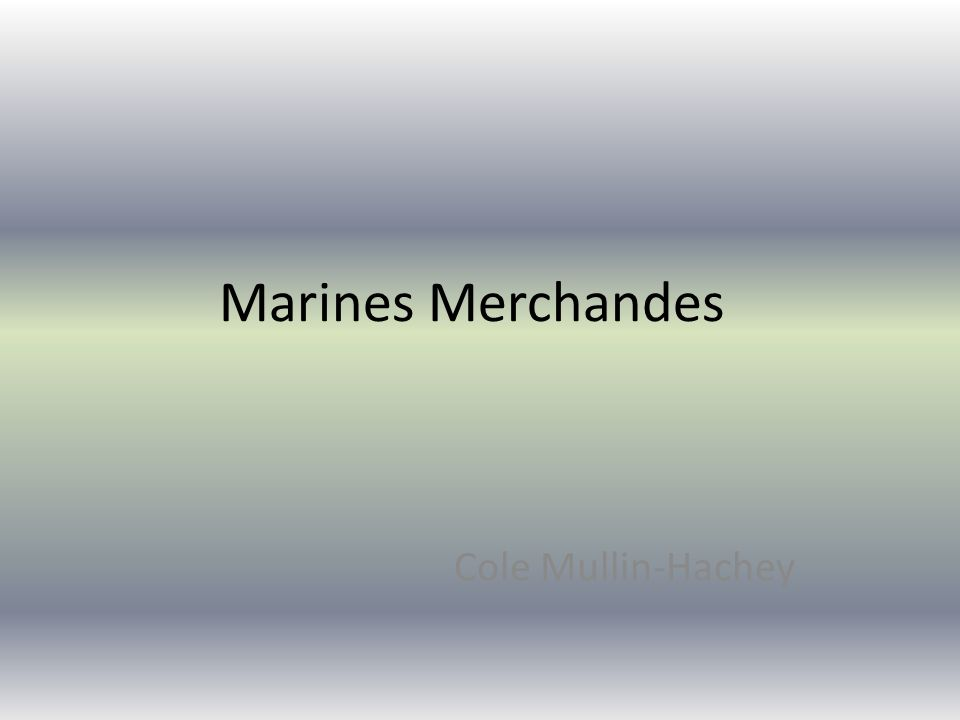 Marines Merchandes Cole Mullin-Hachey