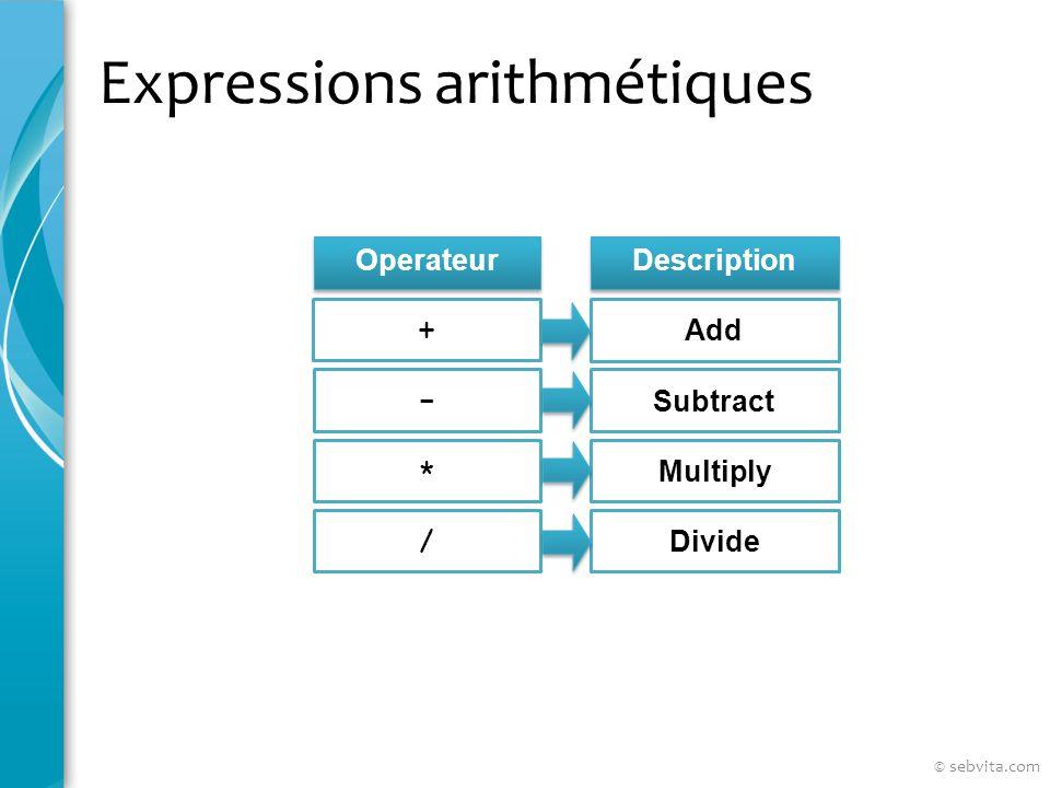 Manipulation de fichiers Liste non exhaustive SAV[E] filename[.ext] [RE[PLACE]] [APP[END]] GET filename[.ext] STA[RT] filename[.ext] @ filename[.ext] ED[IT] [filename[.ext]] SPO[OL] filename[.ext] [OFF OUT] EXIT © sebvita.com