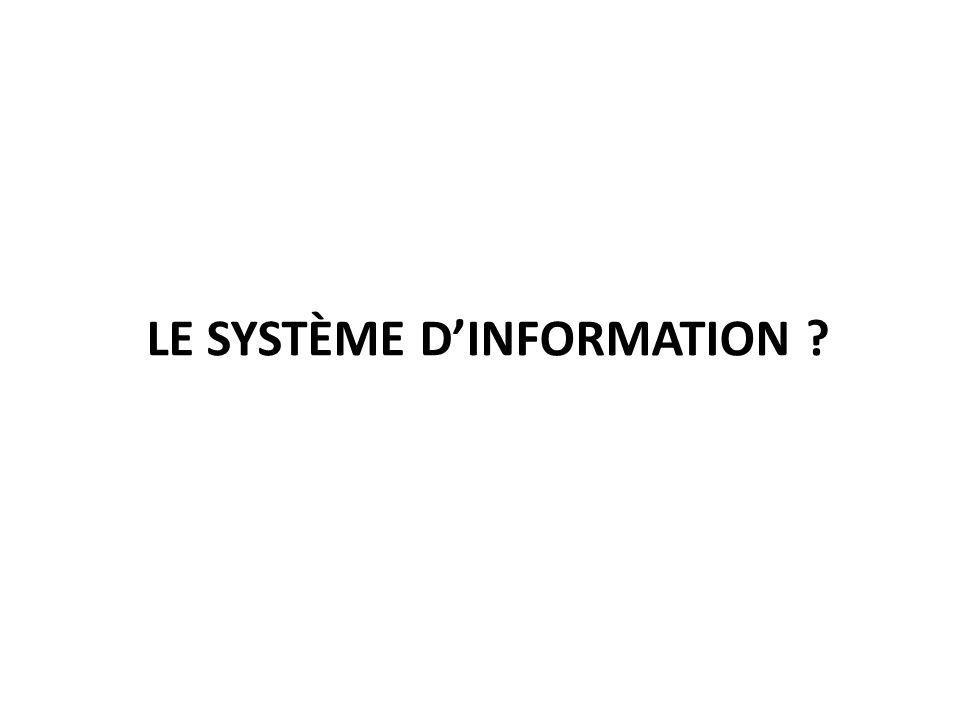 LE SYSTÈME DINFORMATION ?
