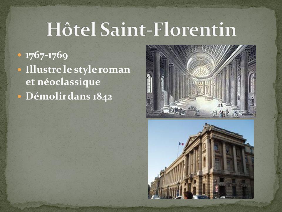 1767-1769 Illustre le style roman et néoclassique Démolir dans 1842