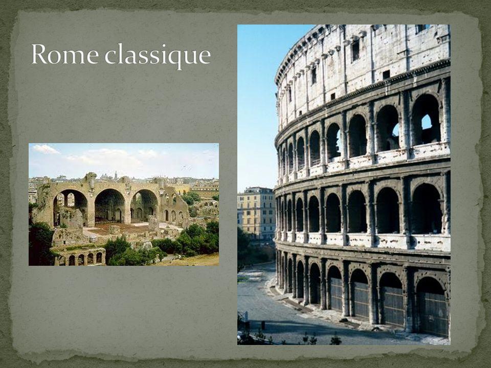 Néoclassique Arc romain Frise continue Larchitecte Le style romain Ses œuvres est très remarquables.