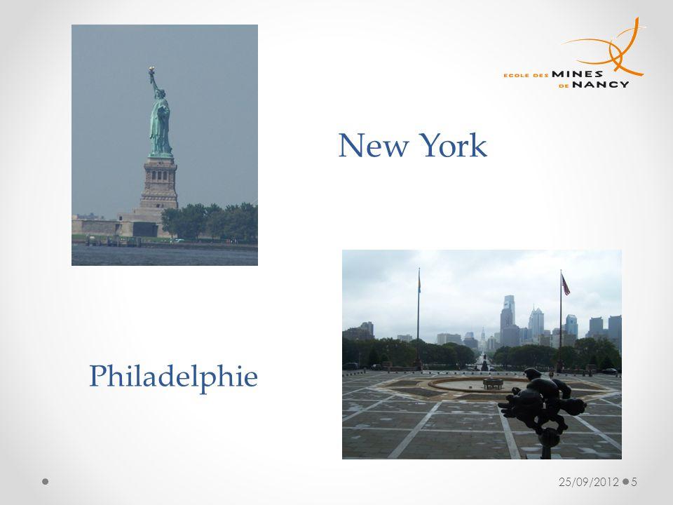 25/09/20125 New York Philadelphie