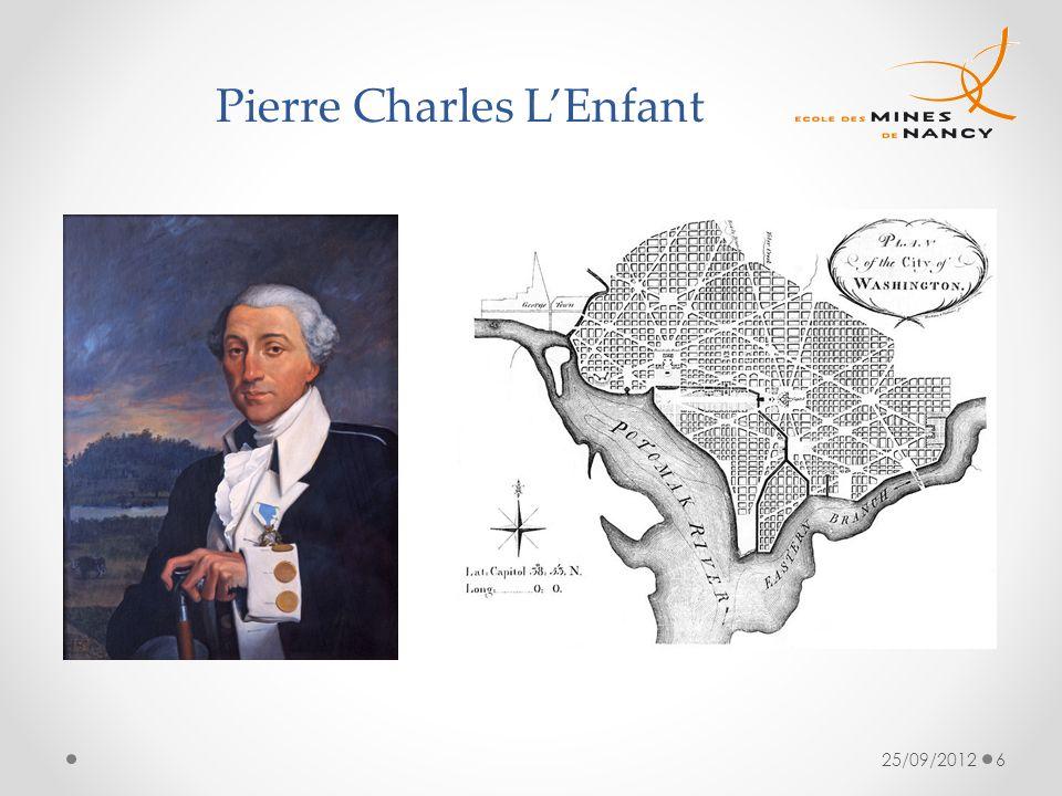 25/09/20126 Pierre Charles LEnfant