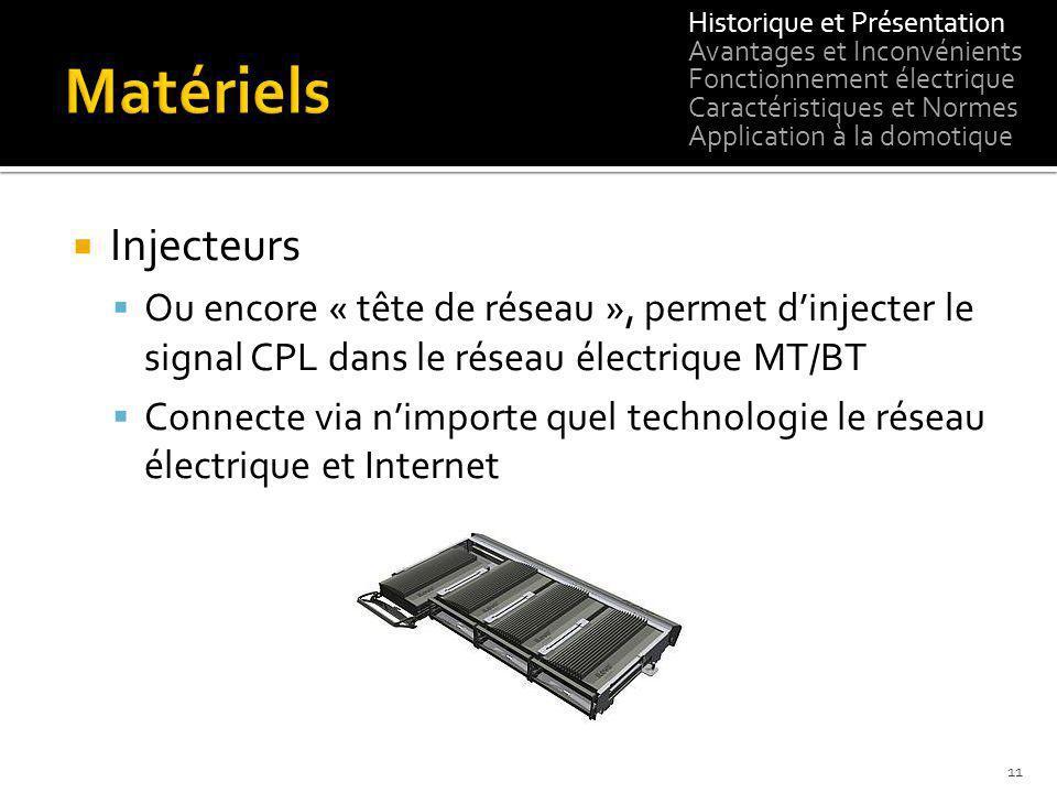 Injecteurs Ou encore « tête de réseau », permet dinjecter le signal CPL dans le réseau électrique MT/BT Connecte via nimporte quel technologie le rése