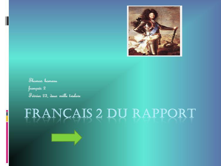 Thomas hameau français 2 Février 23, deux mille tweleve
