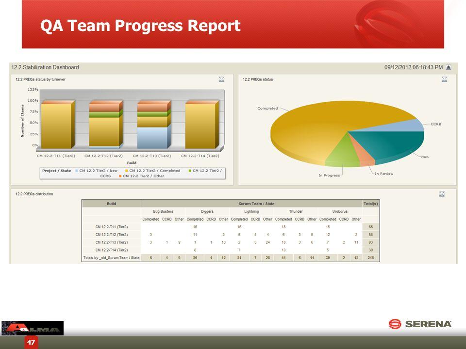 QA Team Progress Report 47