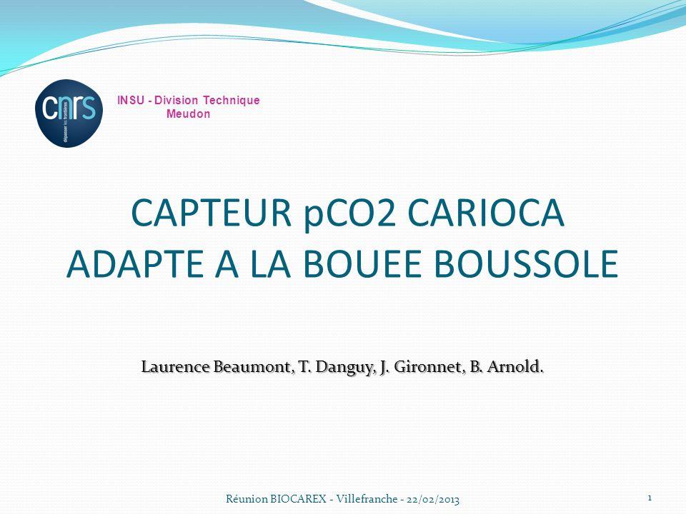 CAPTEUR pCO2 CARIOCA ADAPTE A LA BOUEE BOUSSOLE Laurence Beaumont, T.