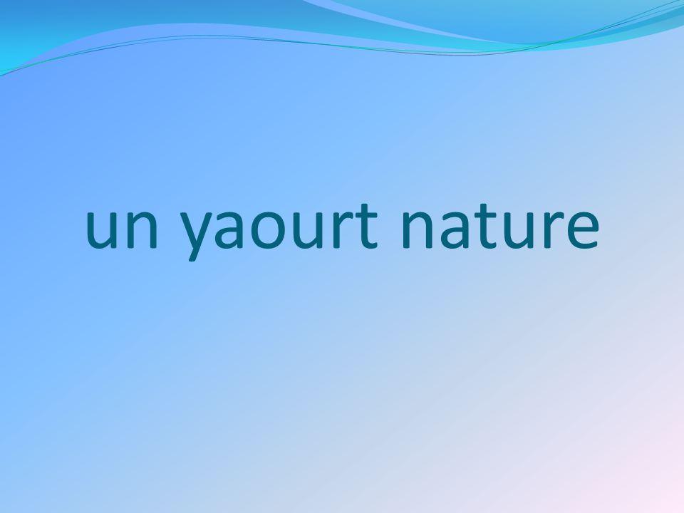 un yaourt nature
