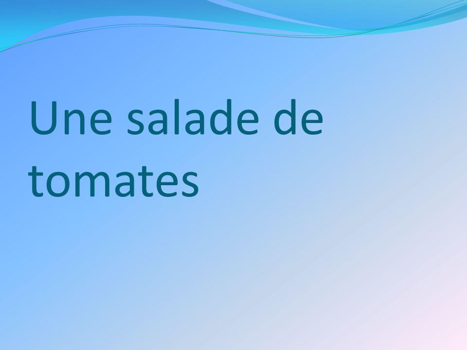 Une salade de tomates