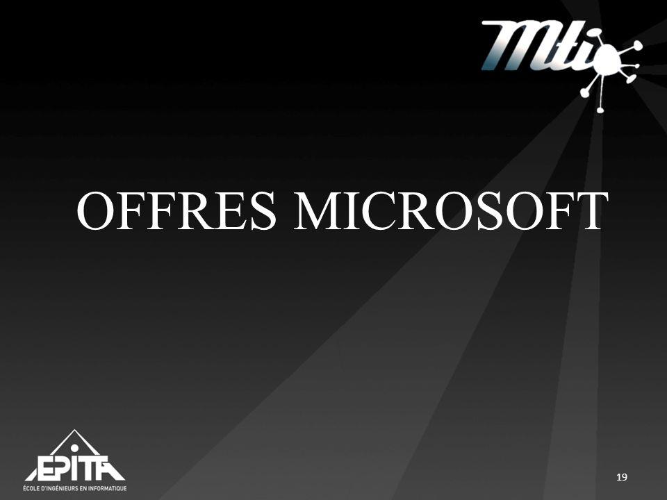 OFFRES MICROSOFT 19