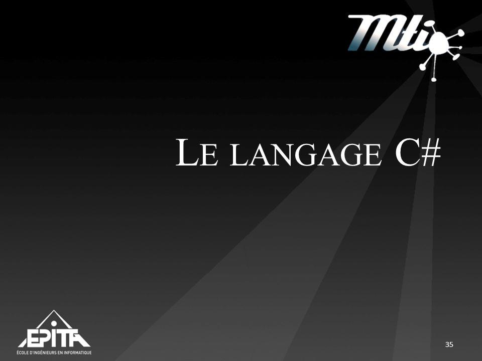 L E LANGAGE C# 35