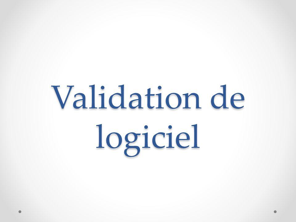 Validation de logiciel