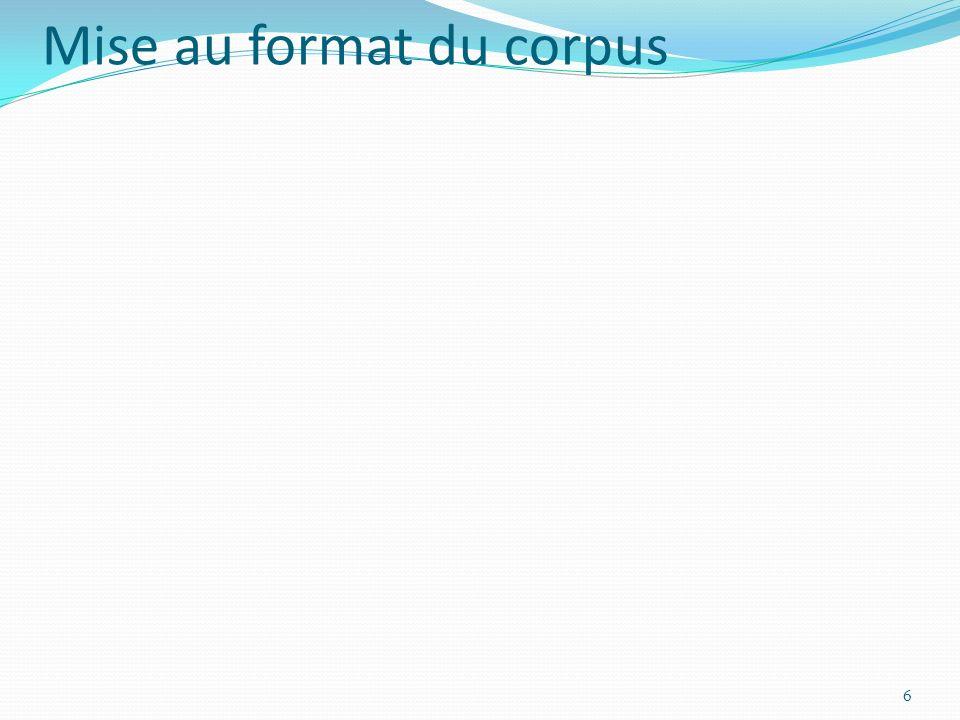 Mise au format du corpus 6