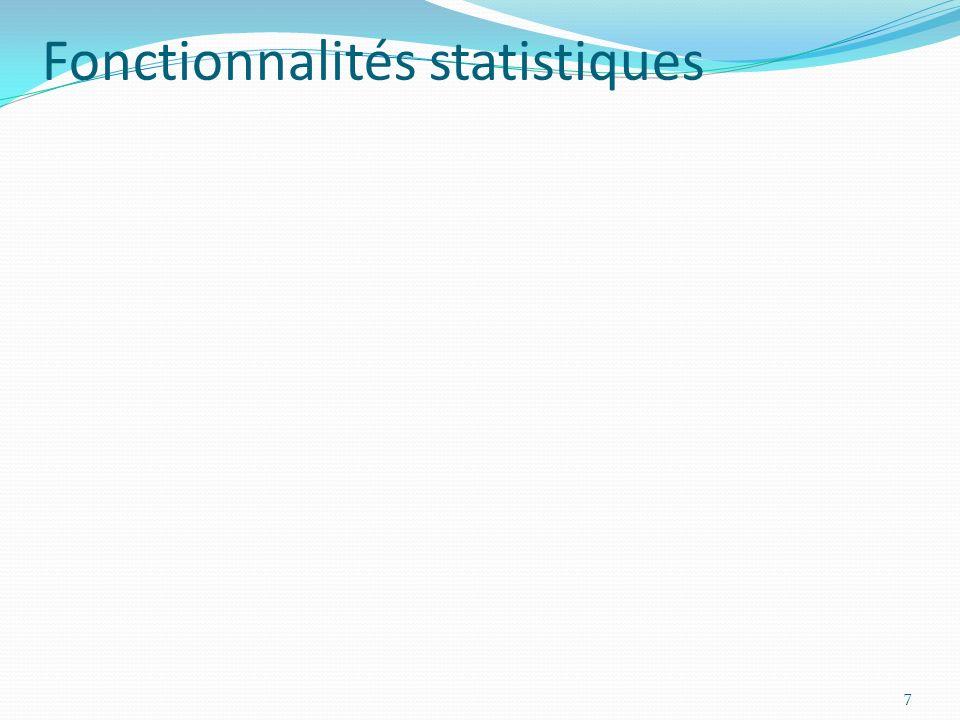 Fonctionnalités statistiques 7