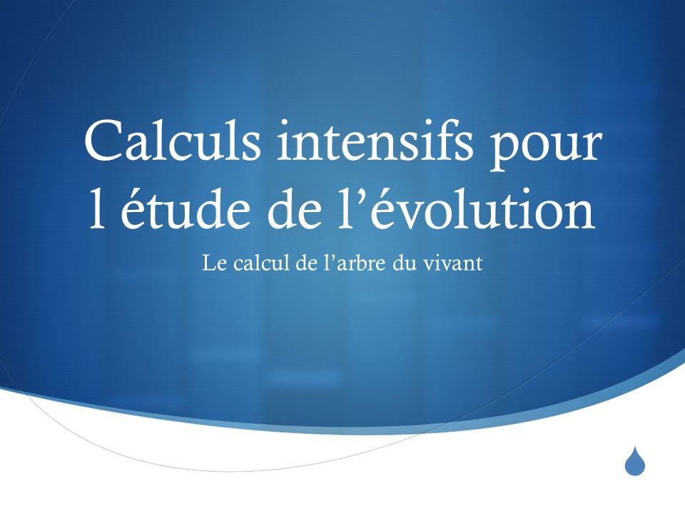 Calculs intensifs pour l étude de lévolution Le calcul de larbre du vivant