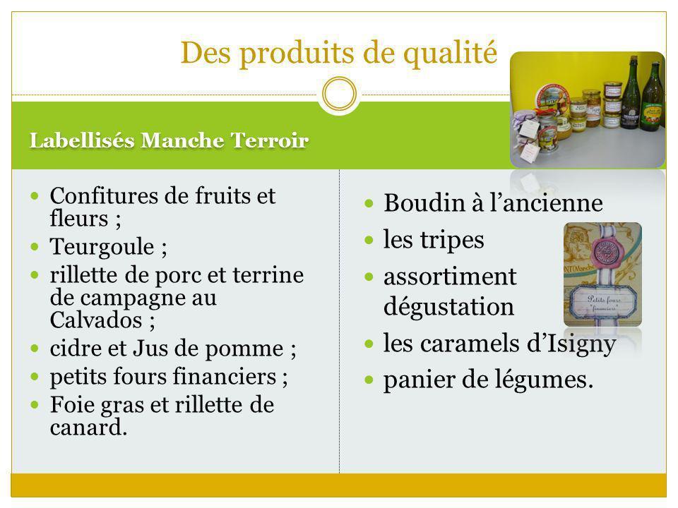 Labellisés Manche Terroir Boudin à lancienne les tripes assortiment dégustation les caramels dIsigny panier de légumes. Des produits de qualité Confit