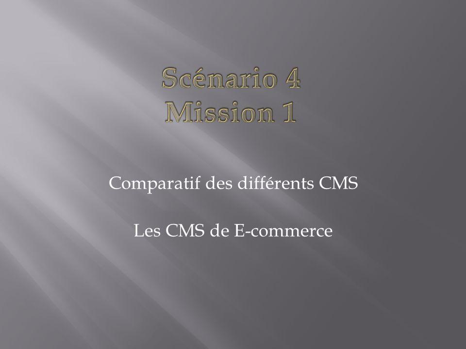 Comparatif des différents CMS Les CMS de E-commerce