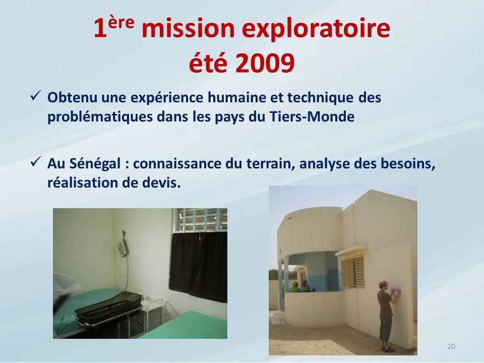 Obtenu une expérience humaine et technique des problématiques dans les pays du Tiers-Monde Au Sénégal : connaissance du terrain, analyse des besoins,