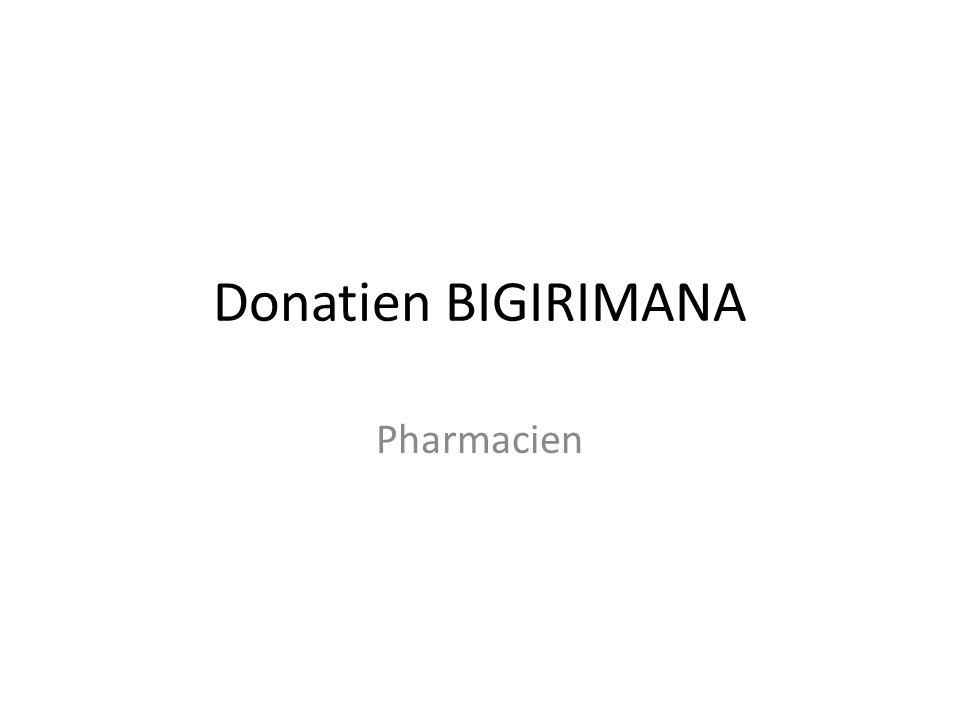 Donatien BIGIRIMANA Pharmacien