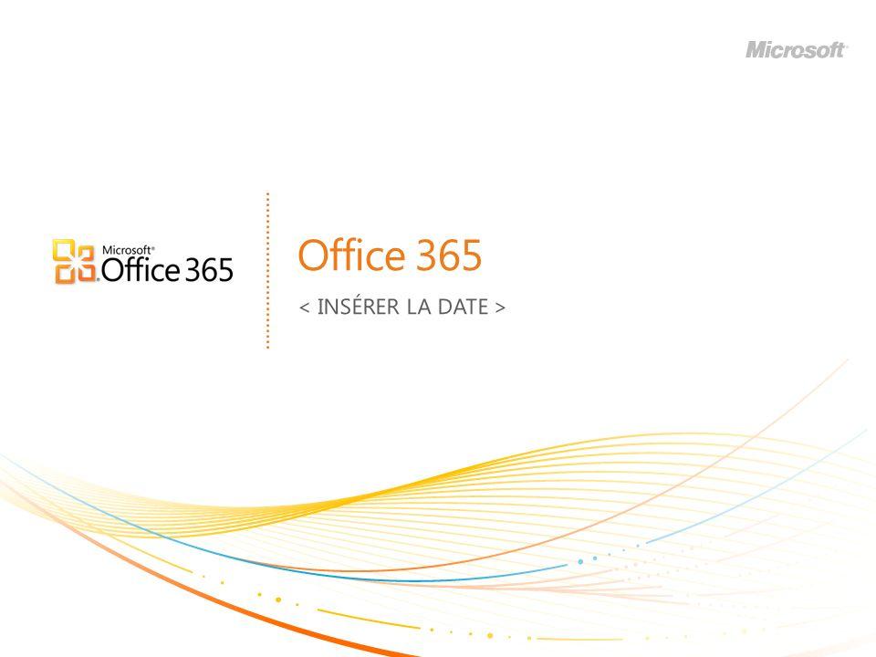 | Copyright© 2010 Microsoft Corporation Office 365 Inclut… 12 Une seule interface utilisateur pour commander et administrer.