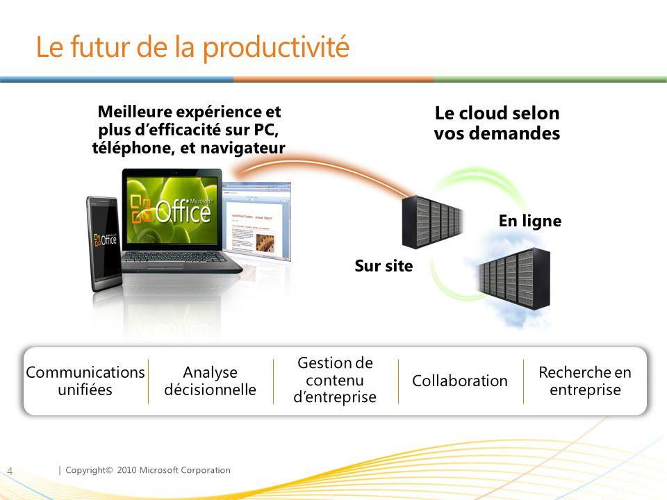 | Copyright© 2010 Microsoft Corporation Des clients exploitent la productivité du cloud avec Microsoft 35